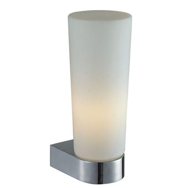 nowoczesny kinkiet do łazienki szkło i chrom