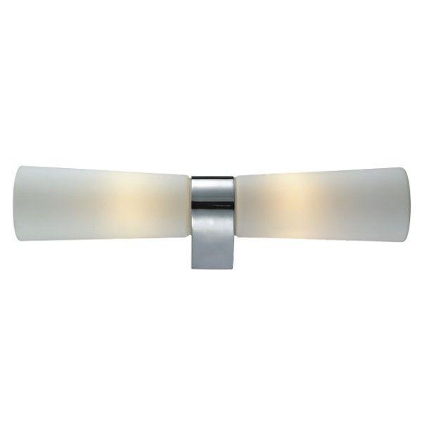 efektowny nowoczesny kinkiet łazienkowy mleczne szkło