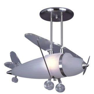 Lampa wisząca Junior - duży klosz w kształcie samolotu