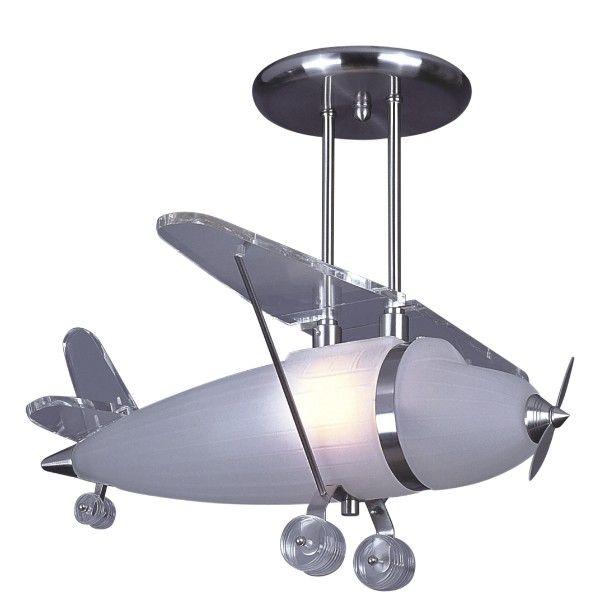 lampa wisząca samolot do pokoju chłopca