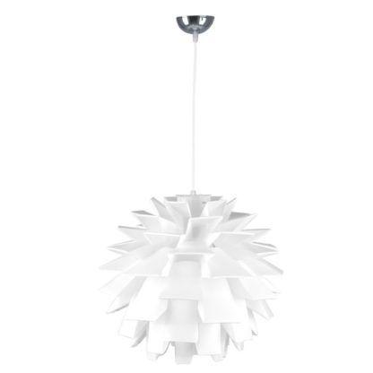 biała, designerska lampa wisząca, origami