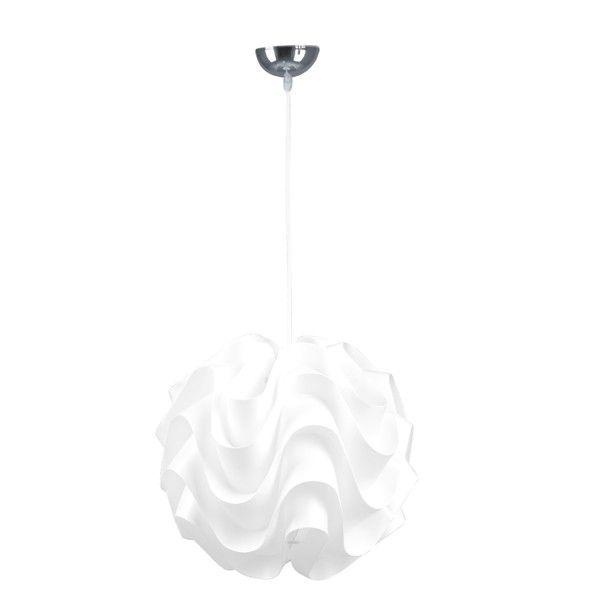 efektowna lampa wisząca białe fale