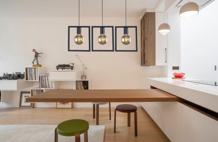 Lampa industrialna do kuchni - 3 żarówki nad stół