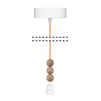 Zawieszenie z kulkami do lamp wiszących Young Deco - pomarańczowe