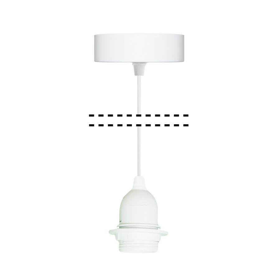 białe zawieszenie do lampy