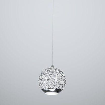 okrągła lampa wisząca glamour, kryształki