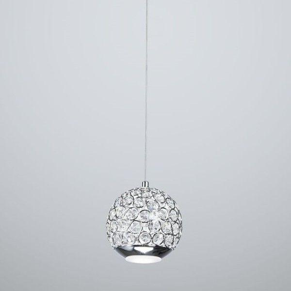 okrągła lampa wisząca kryształy