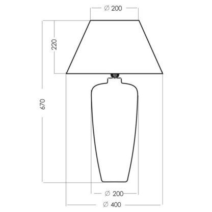 wysoka lampa stołowa