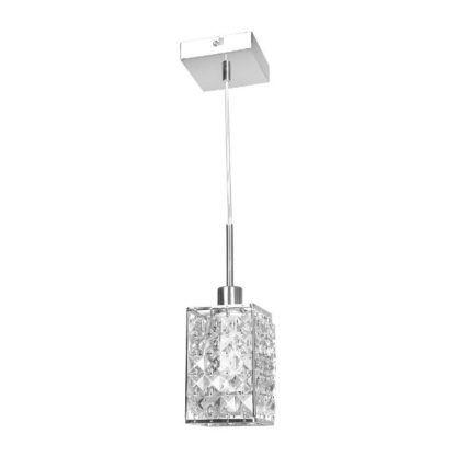 prostokątna kryształowa lampa wisząca glamour