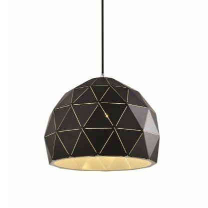czarna geometryczna lampa wisząca nowoczesna
