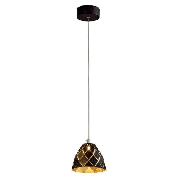 czarna lampa wisząca nowoczesna złoty środek