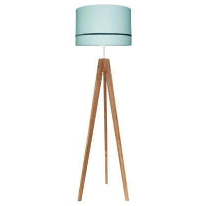 Elegancka lampa podłogowa Elegance - miętowy abażur