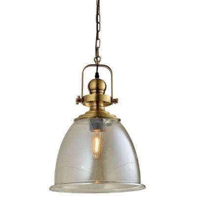 industrialna lampa wisząca ze szklanym kloszem