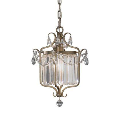 barokowa lampa wisząca z kryształkami