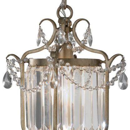 pałacowy kinkiet z kryształkami