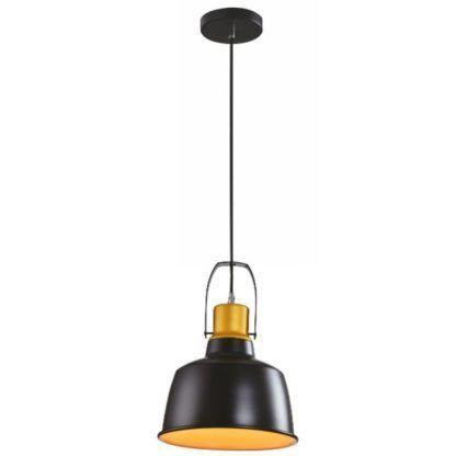 czarna metalowa lampa wisząca