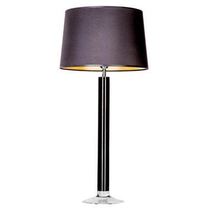 smukła lampa stołowa czarna