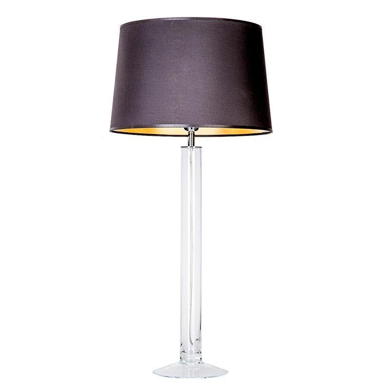 wysoka lampa stołowa ze szkła