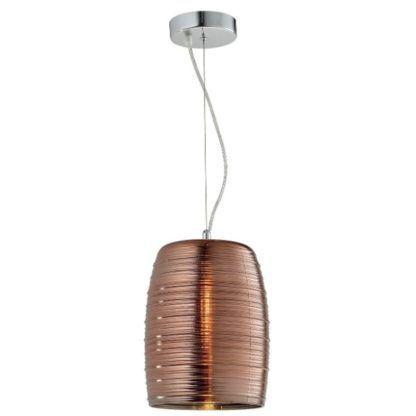 nowoczesna lampa wisząca miedziany klosz