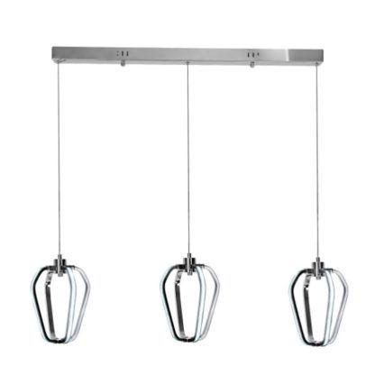 nowoczesna lampa wisząca LED, ażurowa