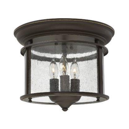 lampa sufitowa ciemny brąz i szkło klasyka