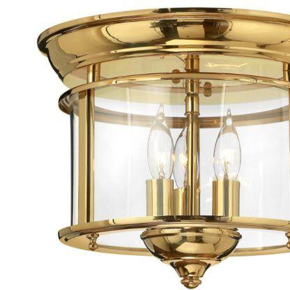 złota lampa sufitowa w wysokim połysku