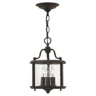Nieduża lampa wisząca Gentry - szklany klosz, brązowa, klasyczna