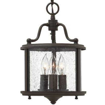 brązowa lampa świecznik szklany klosz