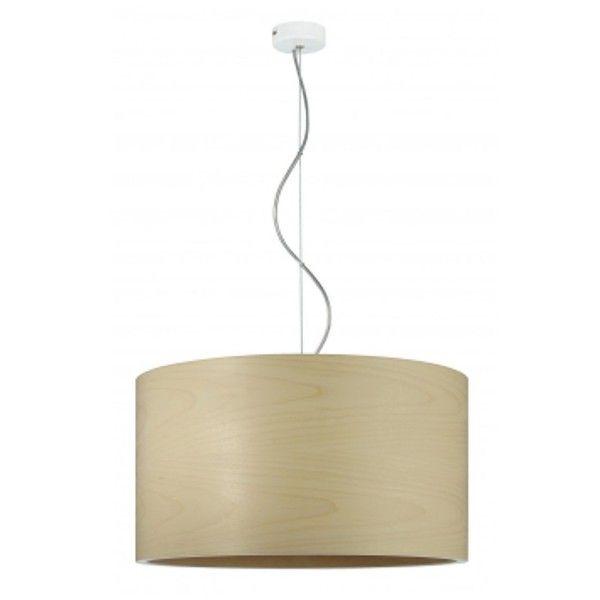 efektowna lampa wisząca z drewna