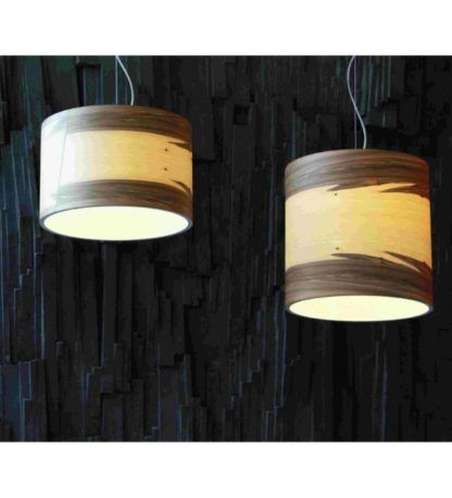 lampy wiszące ze sklejki skandynawskie