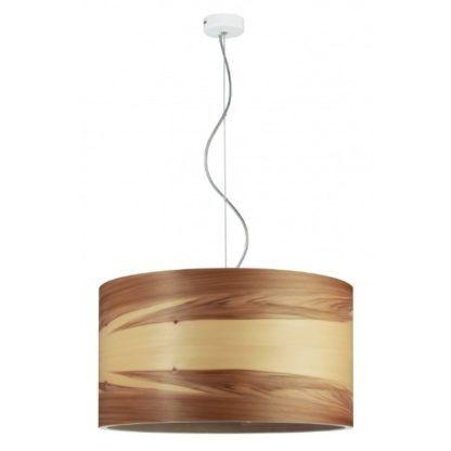 okrągła lampa wisząca ze sklejki