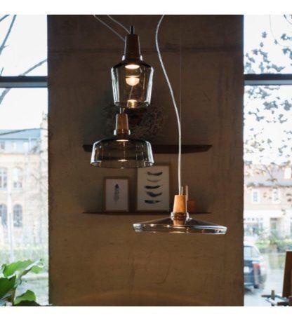lampy z barwionego szkła scandi