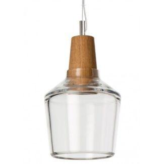 Szklana lampa wisząca Industrial - mały, bezbarwny klosz