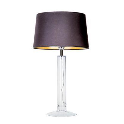 transparentna lampa stołowa ze szkła