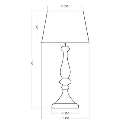 lampa stołowa elegancka