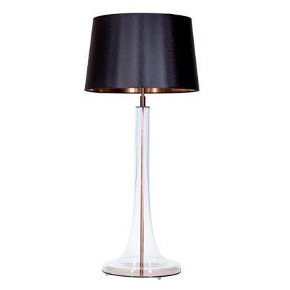 przezroczysta lampa stołowa