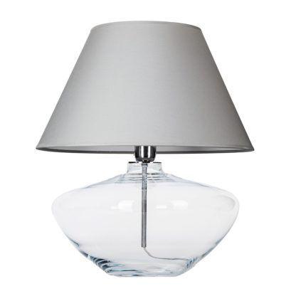 szklana lampa szary abażur