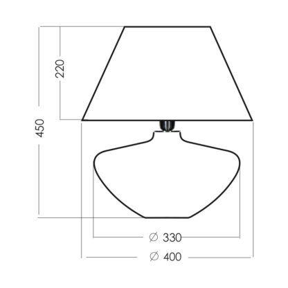 Szklana lampa stołowa Madrid - czarny abażur złoty w środku