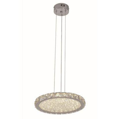lampa wisząca glamour okrągły kryształowy klosz