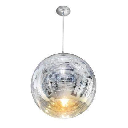 lampa wisząca ze srebrnego szkła nowoczesna