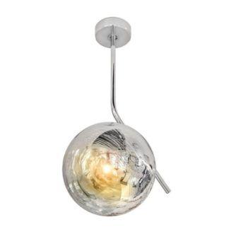 Designerska lampa wisząca Mila - srebrny klosz
