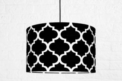 czarno-biała lampa wisząca monako