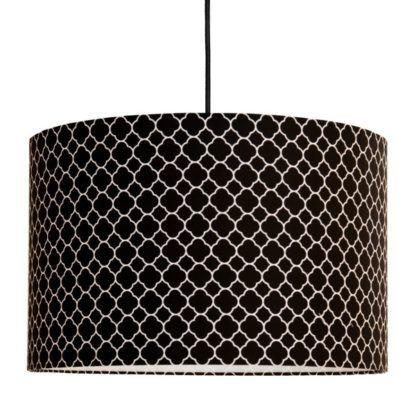 czarna lampa wisząca wzór z monako