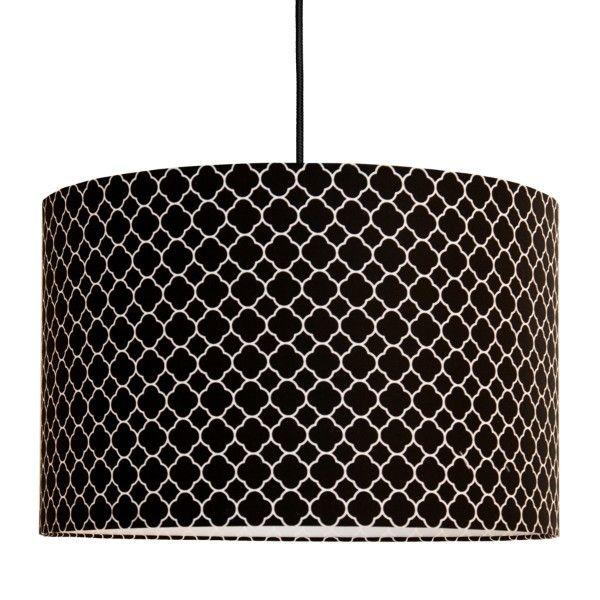 elegancka lampa wisząca czarny abażur
