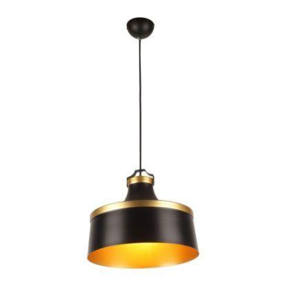 czarno- złota lampa wisząca z metalu