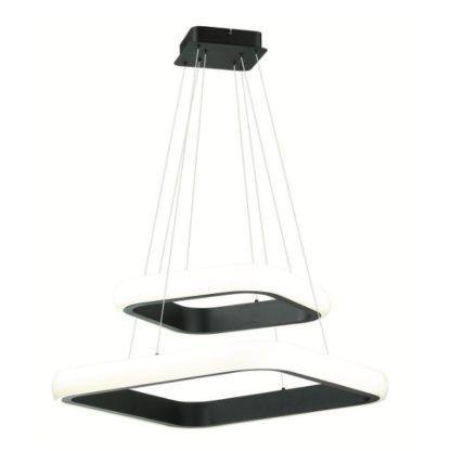 designerska lampa wisząca ledowe kwadraty