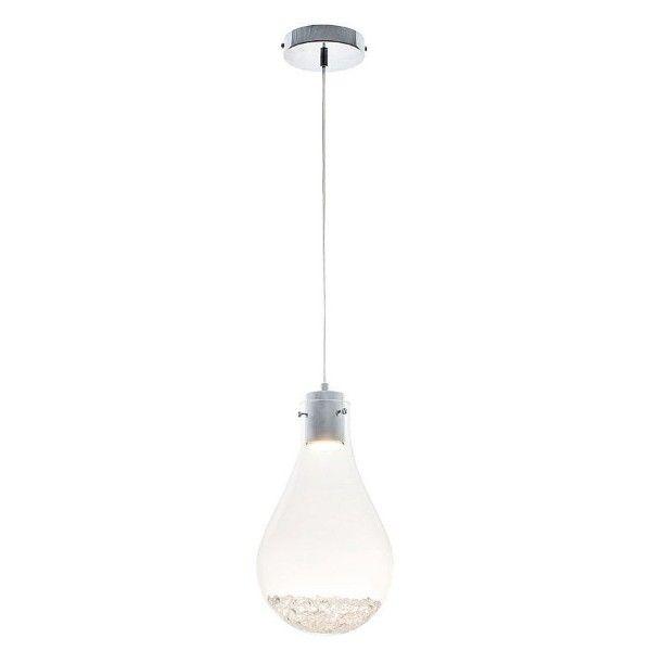 szklana lampa w kształcie żarówki z kryształkami