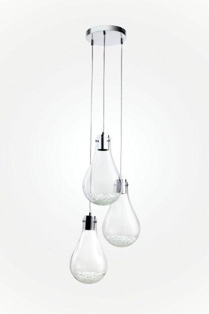 nowoczesna lampa wisząca klosze w kształcie żarówki szklana