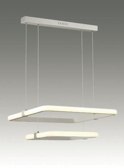 podwójna biała lampa wisząca kwadratowe klosze