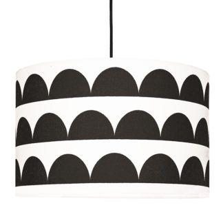 Biało-czarna lampa wisząca Półksiężyce - nowoczesny design